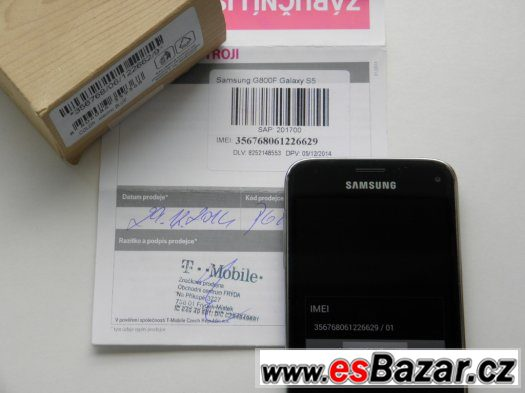SAMSUNG GALAXY S5 mini G800F 16GB Blue - CZ ZÁRUKA