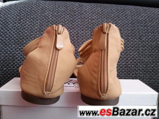 Letní dívčí/dámské boty sandále vel.38