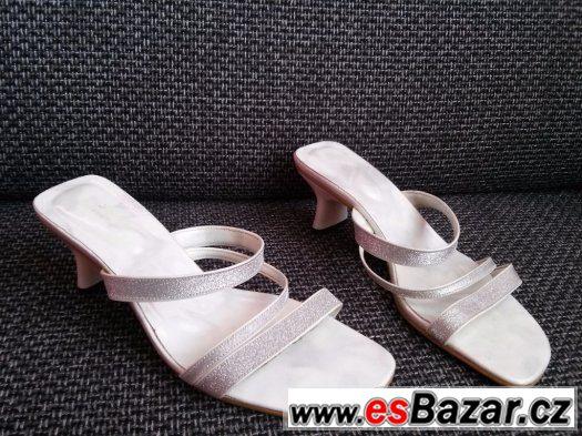 Letní dívčí/dámské boty na podpatku vel.37