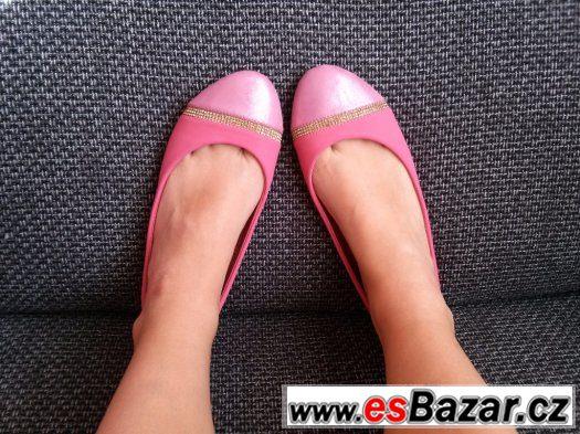 Letní dívčí/dámské boty balerínky vel.38