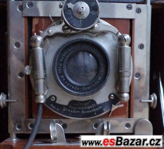Prodám starožitný fotoaparát UNION Dresden, HUGO STOCKIG