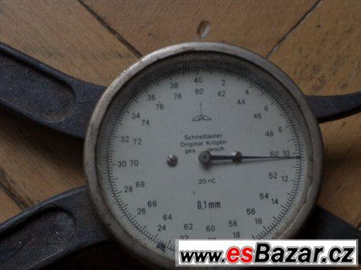 Prodám historický německý pákový měřič tloušťky 0-40 mm