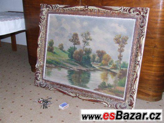 Prodám starý obraz krajiny - Tichá Orlice