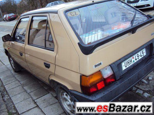Škoda Favorit 136LS s LPG a tažným zařízením.