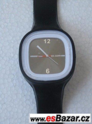Silikonové hodinky černé