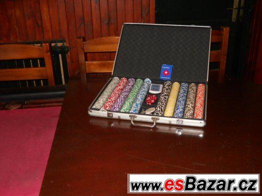 Pokerový stůl + žetony