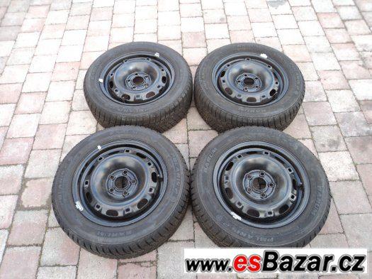 Zimní pneu 185/60/14 vzorek:7mm + disky 5x100 (ŠKODA, VW)