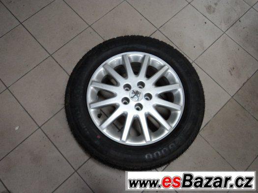 Alu Peugeot 5x108 7Jx16 nové pneu Pirelli (rezerva)