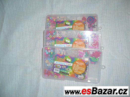 Doplňky k náramkům z gumiček