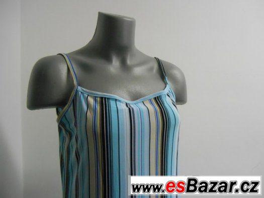 Dámské letní barevné modré šaty VEL L
