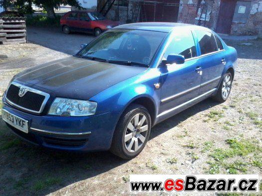 Škoda Superb 1.9 TDI 96 KW AWX rozprodám na ND