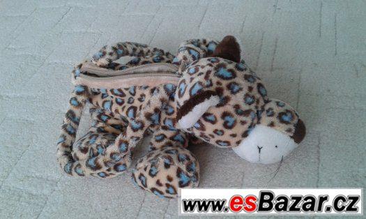 Plyšová kabelka, pytlík na papuče Hello Kitty