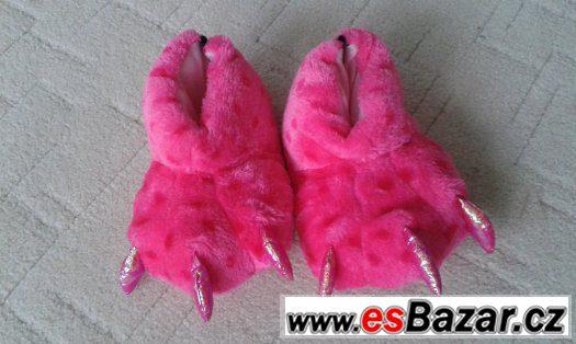 Nové dívčí plyšové papuče