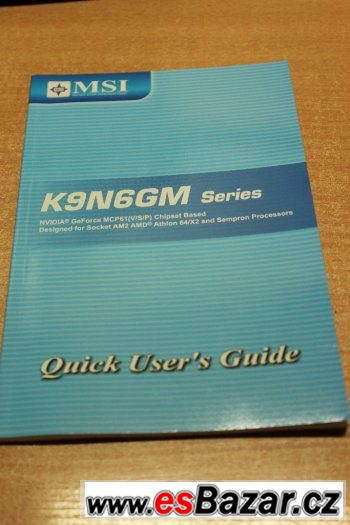 DRIVER CD + MANUALE MSI K9N6GM