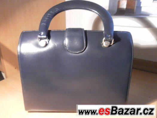Prodám ručně šitou černou a modrou koženou kabelku