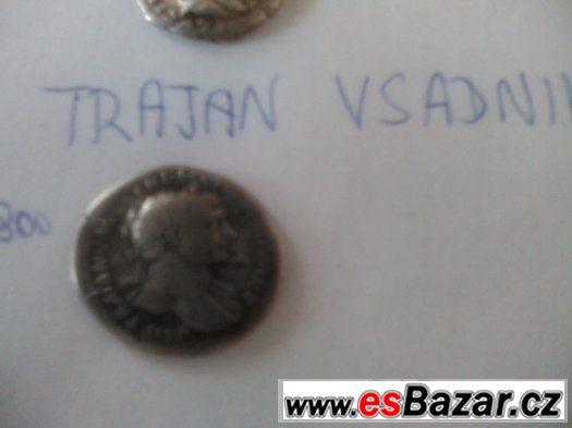 Antika Rim Mince Denary Marcus Aurelius Cesar Trajan Vespasi