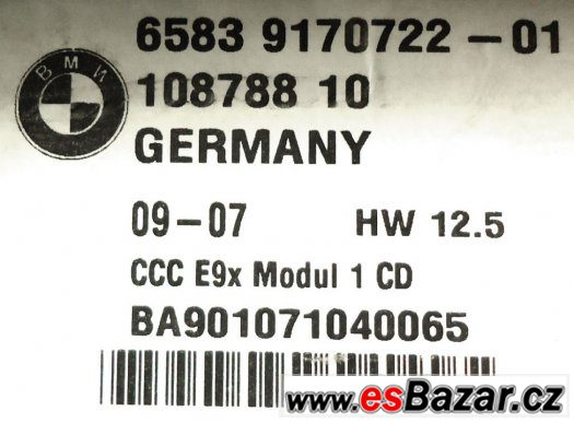 BMW 3 series Navigation GPS System CD Disc Drive Player
