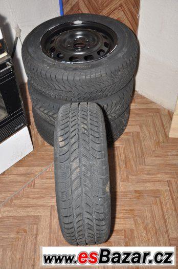 Plecháče 5x114,3 R15 nové zimní pneu SAVA na mazdu atd.