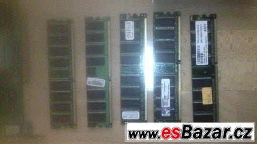 Prodam tyto RAM paměti typu DDR1