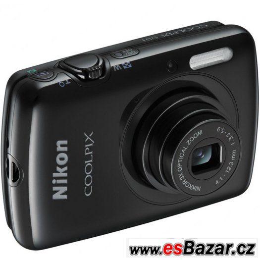 NOVÝ černý Nikon COOLPIX S01 SUPER CENA