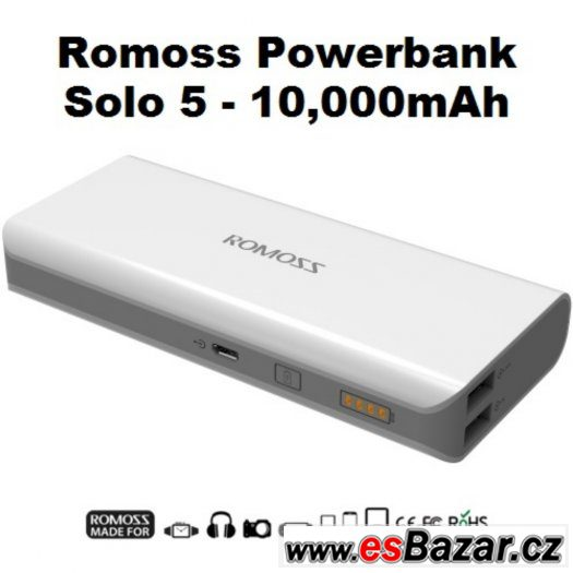 NOVÝ externí akumulátor ROMOSS Solo 5 SUPER CENA