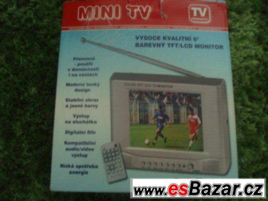 Tv mini barevná TFT-LCD
