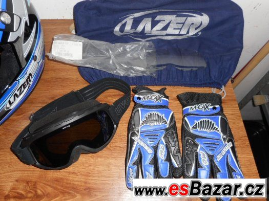 Prodám helmu LAZER MX 6, velikost psaná SX, ale spíš M