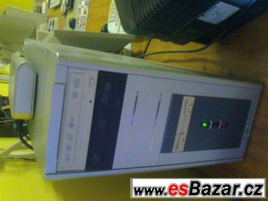 Pc stolní 1,5ghz, 2gb ram, 128grafika, dvd, Monitor s repro.