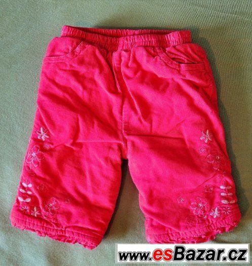 Kojenecké kalhoty červené, vel.56