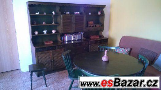 Nábytková rustikální stěna Bonanza - stůl a židle
