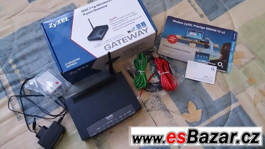 ADSL2 MODEM, WIFI ROUTER ZYXEL P660HW-T3 v2