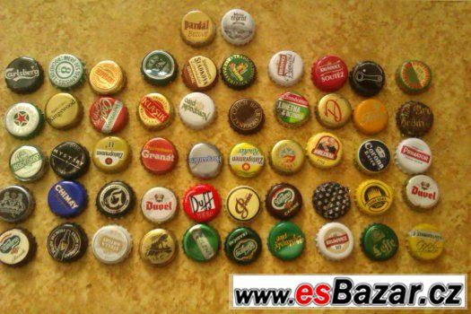Prodej drobné sbírky vršků od piva (různé značky)