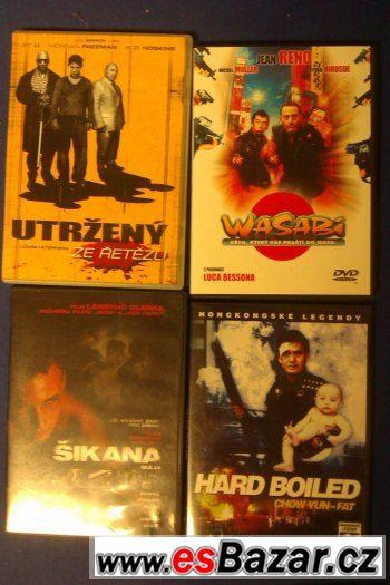 Prodej 4 akčních DVD. Cena + poštovné