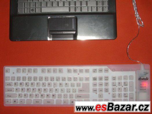 flexibilní silikonová klávesnice