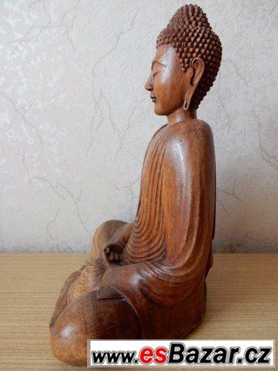 dřevěná soška - Budha