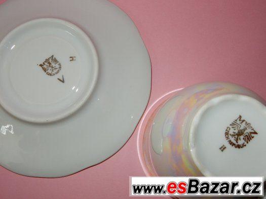 2 porcelánové hrnečky