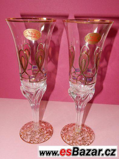 Dvě skleničky -šampusky