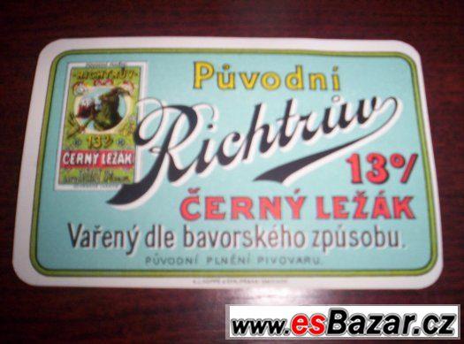 pivní etiketa Praha Motol