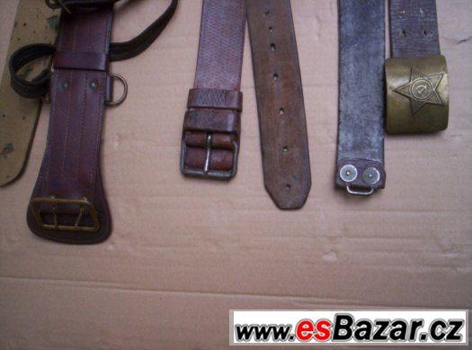 staré původní vojenské opasky 6ks
