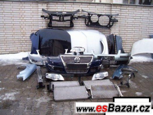 Volkswagen Passat B-6 Dily na Predek Airbagy Chladice Dvere