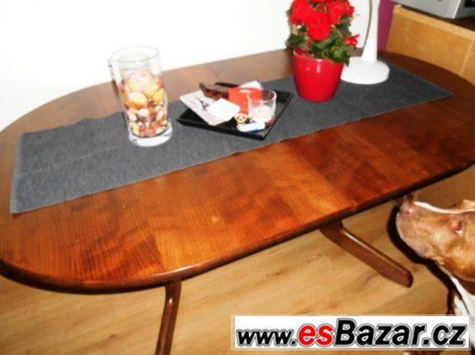 Rozkládací Jídelní stůl pro 6 osob včetně 6 židlí
