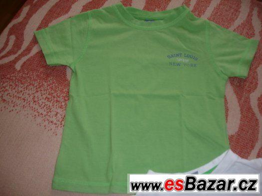 2 moc pěkná trička s krátkým rukávem, vel. 98