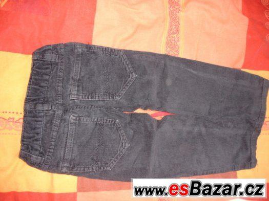 Manžestrové kalhoty pro kloučka, vel. 98 a 104, C&A