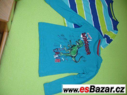 2 x tričko s dlouhým rukávem, vel. 104