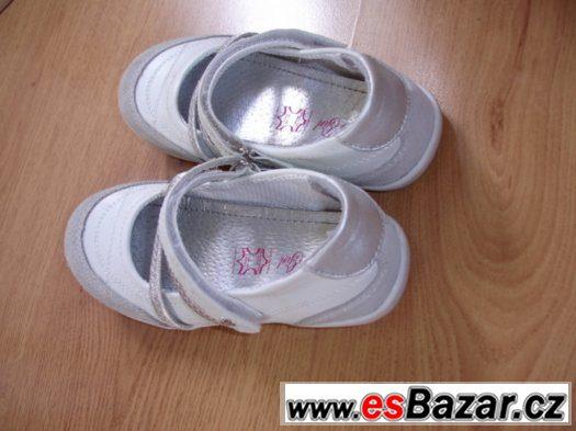 Kvalitní balerínky, botičky s koženou stélkou, vel. 31