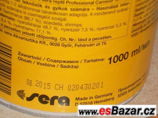 Sera Raffy I 1000 ml - krmivo pro plazy