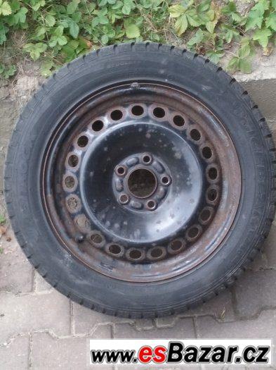 16´ plechy Ford 5x108 se zimnímy pneu Hankok + poklice