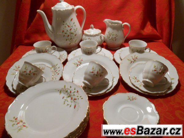 Porcelánový čajový/dezertní servis