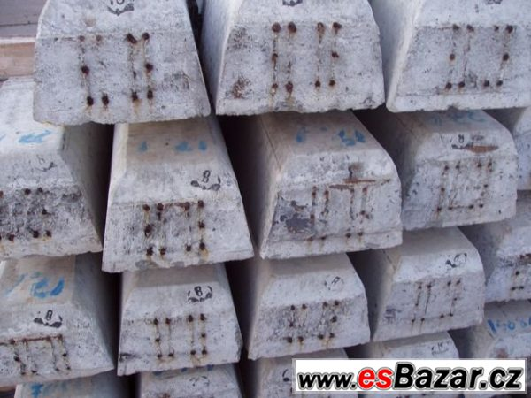 Pražce  betonové zachovalé starší