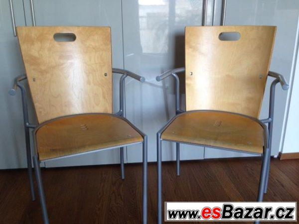 Prodám 2 židle s opěrkou Ikea
